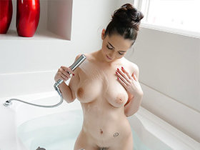 Busty shy babe dicksuck and fuck in pov
