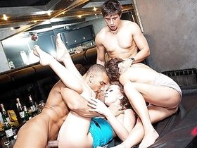 Real russian orgy of students in a night club